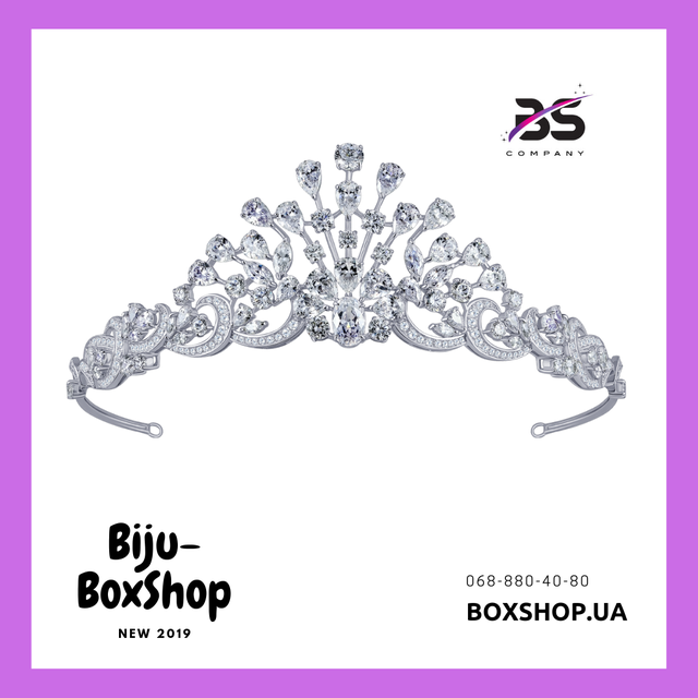 Диадемы Короны Украшения для Невест Бижутерия Оптом Biju-BoxShop