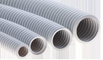 Гофрированные трубы из самозатухающего ПВХ-пластиката (DKC)